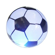 Inflatable ball with LED