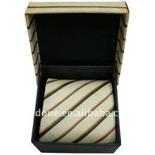 Jacquard Striped Shirt Necktie with Kerchief&Cufflinks&Giftbox
