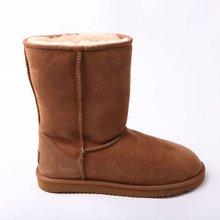 Sheepskin leather lady boot