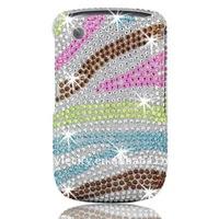 Diamond Bling Plastic Case for BlackBerry Curve 3G 9300 / 9330 / 8520 / 8530 (Flowers)
