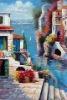Musuem quality ocean paintings mediterranean sea hand painting art MS-038