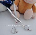 professional curved left handle dog fur scissors KD0105122