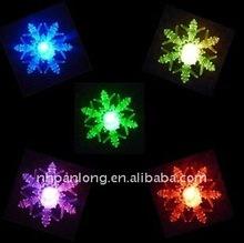 fashion christmas tree led plastic glitter snowflake light indoor outdoor xmas ornament
