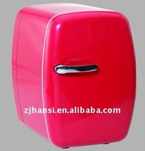 6L AC/DC red mini fridge for car /cooler & warmer/ cooling box
