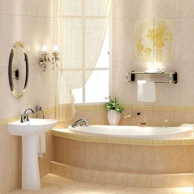 Water Proof And Non slip Bathroom Ceramic Floor Tiles