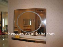 First class illuminated bathroom mirror with frame