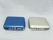 Rectangular wallet tin box with hinge and flocking plastic lining{YX2115}