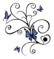 brazalete de mariposa temporal etiqueta engomada del tatuaje