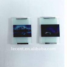 Aluminium 180mm Polished Chrome Finish Glass Sign Holder