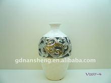white ceramic vase art modern