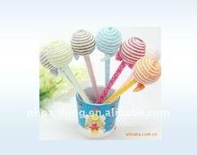 more color children like lollipops ball pen ,gift ball pen