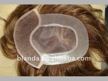 Whole sale Men's human hair toupee mono filament lace