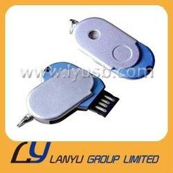 Slim Blue&white mini 2GB 4GB 8GB Mental USB Stick , USB Memory ,USB Flash Driver Lady Gift