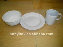 3pcs melamine restaurant dinnerware sets