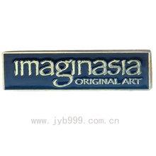 metal name badge for enamal artwork customized design