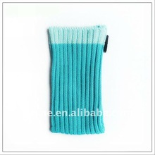 knitted convenient cell phone latex wrist bag with velcro