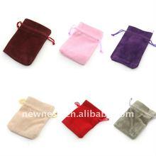 Fashion velvet jewelry bag for gift