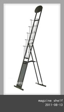 HY 6-6 A4 Size Round Head Iron Catalogue Shelf Rack
