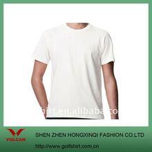 Fashional Men's o neck plain white t shirt made of Bamboo material