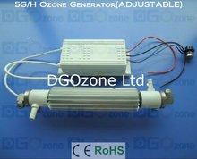 220V Adjustable Ceramic Tube Ozone Generator Air or Water Cooling KHT-5GAWFRA2
