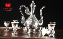 Hotselling handicraft pure silver 990 wine set