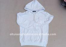2012 hot custom white blank hoody / cheap pullover sweatshirts