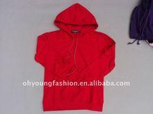 2012 women red thin blank pullover fleece sweatshirt hoodies