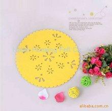 Modern decorative round felt table mat