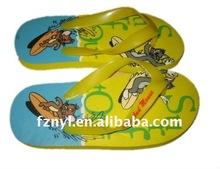 2012 latest design animal print flip flop slipper