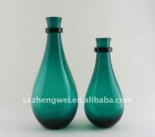 purple color glass vase