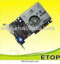 NEW GeForce FX5500 256MB DDR AGP VGA DVI Video Card