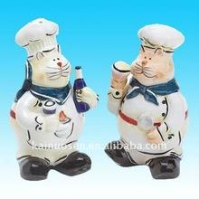 Hotsale ceramic cruets, salt and pepper cruets