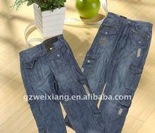 Men fashion baggy jeans,2012 latest design jeans