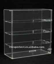 clear acrylic locking display case with drawers