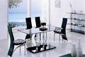 moderno de cristal templado mesa de comedor