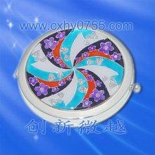 Flower Cosmetic Handbag Cosmetic Mirror Compact Mirror