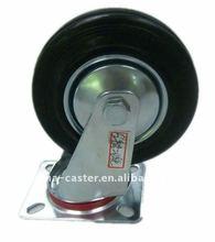 "5""industral caster swivel iron core black rubber wheel caster wheel"