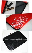 Flower print neoprene laptop sleeve