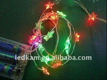 Colorfull LED star lights chian battery operated for christmas