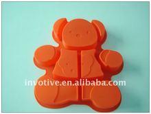 Nueva silicona tire- aparte oso torta del molde