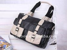 Hot sale Fashion Portable PU Leather Men's Leisure Bag