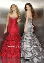 2011 popular style strapless sheath bridal changing dress