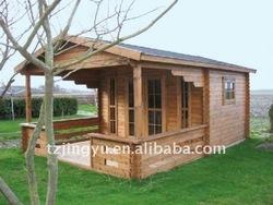 summer wooden garden house