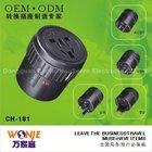 Interchangable World Travel Adapter, Plug Kit (CH-181)