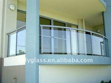 aluminium profile glass fence