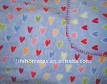 Printed Fleece Blanket Throw Girls Baby