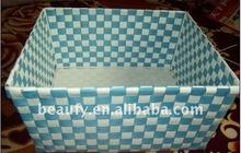 shiny PP straps weaving storage basket