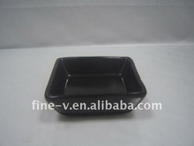 Ceramic snack dish with color glaze