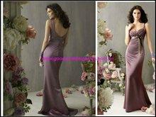 2011 Latest Classic Long Satin Evening Dress Bridesmaid Dress