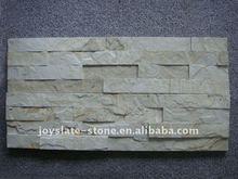 Beige Wood Grain Flat Stacked Ledge Stone Tiles